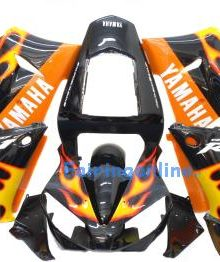 Black/Yellow Type 2 ABS Fairing Set 13pc - Yamaha R1 2000-2001