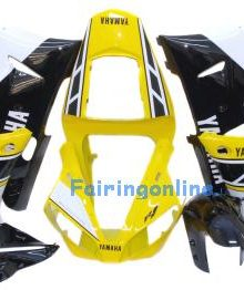 Black/Yellow Type 1 ABS Fairing Set 13pc - Yamaha R1 2000-2001