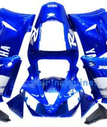 White/Blue ABS Fairing Set 13pc - Yamaha R1 2000-2001