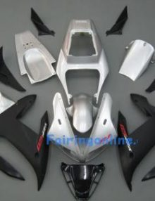 Black/Silver ABS Fairing Set 14pc - Yamaha R1 2002-2003