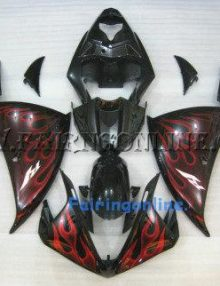 Red/Black ABS Fairing Set 21pc - Yamaha R1 2009
