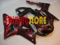 Black Type 2 ABS Fairing Set 13pc - Yamaha R1 2000-2001