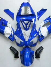 Blue/White/Black ABS Fairing Set 13pc - Yamaha R1 2000-2001