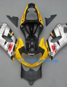 Yellow/Black/Silver ABS Fairing Set 11pc - Suzuki GSXR 600/750 2001-2003