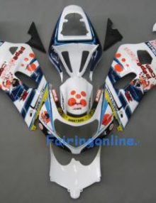 White/Black/Red ABS Fairing Set 11pc - Suzuki GSXR 600/750 2001-2003