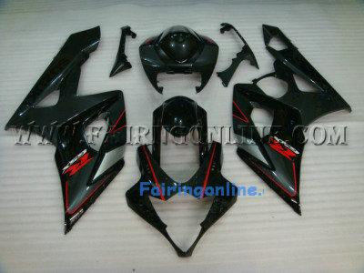 Suzuki GSXR 1000 2005-2006 ABS Fairing Set - Black Type 2