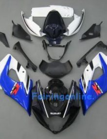 Suzuki GSXR 1000 2005-2006 ABS Fairing Set - Black/White/Blue