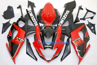 Suzuki GSXR 1000 2005-2006 ABS Fairing Set - Red/Black