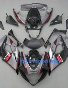 Suzuki GSXR 1000 2005-2006 ABS Fairing Set - Silver/Black