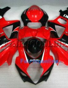 Suzuki GSXR 1000 2007-2008 ABS Fairing Set - Red/Black