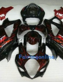 Suzuki GSXR 1000 2007-2008 ABS Fairing Set - Black Type 1