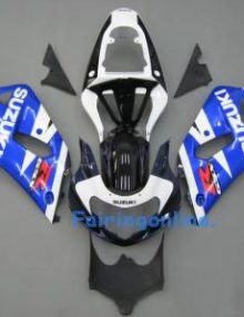 Black/Blue/White ABS Fairing Set 11pc - Suzuki GSXR 600/750 2001-2003