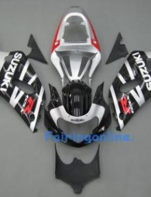 Black/Silver ABS Fairing Set 11pc - Suzuki GSXR 600/750 2001-2003
