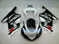 Black/White ABS Fairing Set 11pc - Suzuki GSXR 600/750 2001-2003
