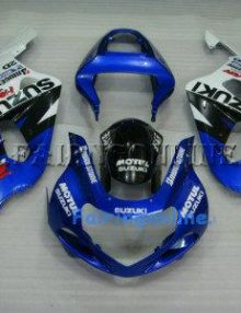 Blue/White ABS Fairing Set 11pc - Suzuki GSXR 600/750 2001-2003