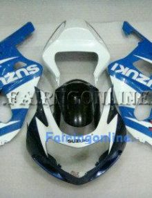 White/Blue ABS Fairing Set 11pc - Suzuki GSXR 600/750 2001-2003