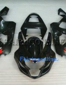 Black ABS Fairing Set 13pc - Suzuki GSXR 600/750 2004-2005