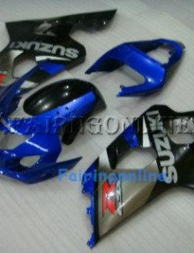 Blue/Black Type2 ABS Fairing Set 13pc - Suzuki GSXR 600/750 2004-2005