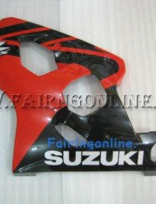 Red/Black ABS Fairing Set 13pc - Suzuki GSXR 600/750 2004-2005