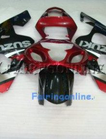 Red/Black Type2 ABS Fairing Set 13pc - Suzuki GSXR 600/750 2004-2005