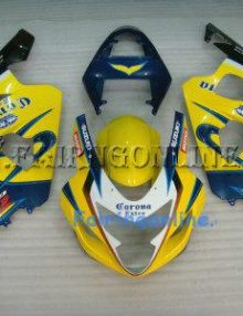 Yellow/Black ABS Fairing Set 13pc - Suzuki GSXR 600/750 2004-2005