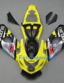 Yellow/Black/Silver ABS Fairing Set 13pc - Suzuki GSXR 600/750 2004-2005