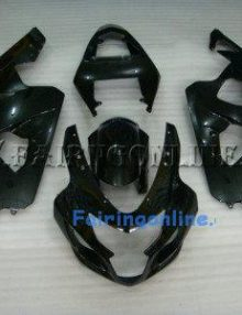 Black Type2 ABS Fairing Set 13pc - Suzuki GSXR 600/750 2004-2005