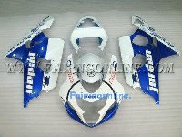 Blue/White West ABS Fairing Set 13pc - Suzuki GSXR 600/750 2004-2005