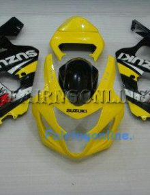 Yellow/Black Type2 ABS Fairing Set 13pc - Suzuki GSXR 600/750 2004-2005