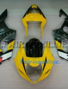 Black/Yellow ABS Fairing Set 13pc - Suzuki GSXR 600/750 2004-2005
