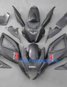 Black/Silver ABS Fairing Set 23pc - Suzuki GSXR 600/750 2006-2007