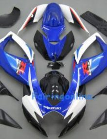 Blue/White/Black ABS Fairing Set 23pc - Suzuki GSXR 600/750 2006-2007