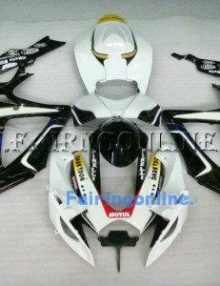 Black/White ABS Fairing Set 23pc - Suzuki GSXR 600/750 2006-2007
