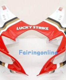 White/Red Lucky Strike ABS Fairing Set 23pc - Suzuki GSXR 600/750 2006-2007