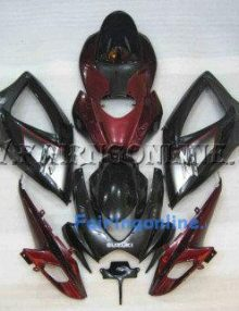 Red/Black ABS Fairing Set 23pc - Suzuki GSXR 600/750 2006-2007