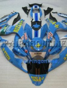 Blue Rizla Type 2 ABS Fairing Set 23pc - Suzuki GSXR 600/750 2006-2007