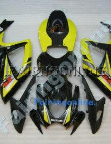 Yellow/Black ABS Fairing Set 23pc - Suzuki GSXR 600/750 2006-2007