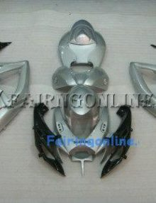 Gray/Black ABS Fairing Set 23pc - Suzuki GSXR 600/750 2006-2007
