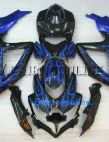Black/Blue ABS Fairing Set 25pc - Suzuki GSXR 600/750 2008-2009