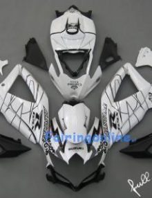 Black/White Corona ABS Fairing Set 25pc - Suzuki GSXR 600/750 2008-2009