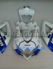 White/Blue Jordan ABS Fairing Set 25pc - Suzuki GSXR 600/750 2008-2009