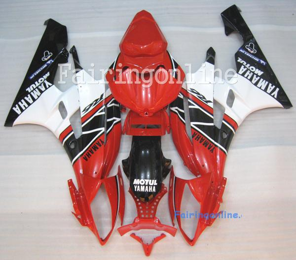Red/Black/White ABS Fairing Set 19pc - Yamaha R6 2006-2007