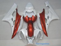 Orange/White ABS Fairing Set 19pc - Yamaha R6 2006-2007