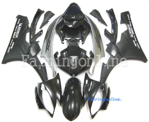 Black/Silver ABS Fairing Set 19pc - Yamaha R6 2006-2007