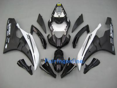 Black/White ABS Fairing Set 19pc - Yamaha R6 2006-2007