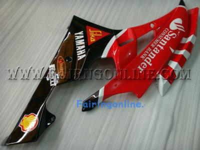 Red Santander Type 2 ABS Fairing Set 19pc - Yamaha R6 2006-2007