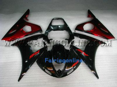 Black Type 4 ABS Fairing Set 13pc - Yamaha R6 2003