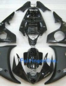 Black Type 1 ABS Fairing Set 10pc - Yamaha R6 2003-2005