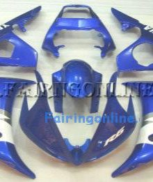 Blue/White ABS Fairing Set 10pc - Yamaha R6 2003-2005