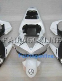 White/Black Jordan ABS Fairing Set 10pc - Yamaha R6 2003-2005